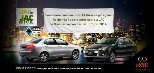 promoção 3 anos jac brasil